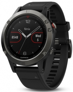 Garmin Fenix 5 Gps Hr Gray Black Diamtero 47mm