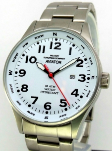 Mec Aviator Time quadrante Bianco