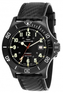 Glycine Combat Sub 42 mm All Black Automatic Swiss Made