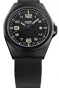 Traser P59 Essential Black Pvd Trigalight Swiss Made Cint. Maglia Milano Pvd
