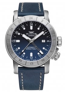 Glycine Airman 44 mm Blu Automatic Gmt 24 Ore Swiss Made