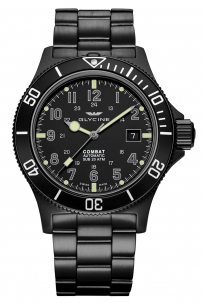 Glycine Combat Sub Ambush 42 mm All Black Pvd Automatic Swiss Made