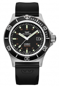 Glycine Combat Sub 42 mm Black Automatic Swiss Made