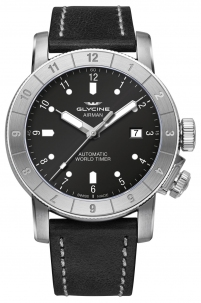 Glycine Airman 42 mm Black Automatic Swiss Made