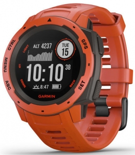 Garmin Instinct Flame Red Gps Standard Militare USA 810G