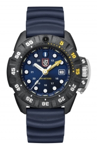 Luminox Scott Cassell Deep Dive 1550 Blu Series Sub 300 Metri e Vetro Zaffiro Cassa In Carbonox