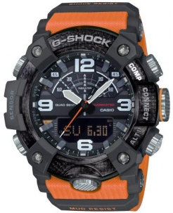 Casio G-Shock New Mudamaster in Carbonio con Triplosensore Bluetooth Smart Versione Black and Orange
