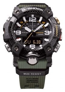 Casio G-Shock New Mudamaster in Carbonio con Triplosensore Bluetooth Smart Versione Carbon Grey